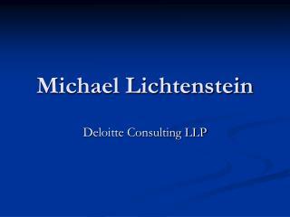 Michael Lichtenstein