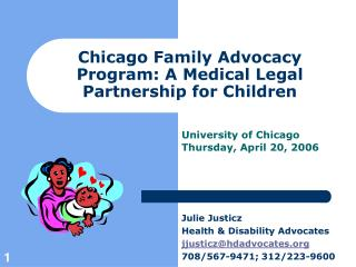 Chicago Family Advocacy Program: A Medical Legal Partnership for Children