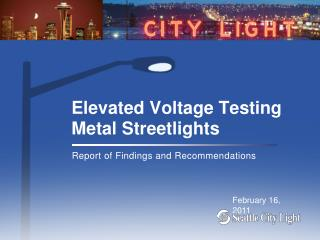 Elevated Voltage Testing Metal Streetlights