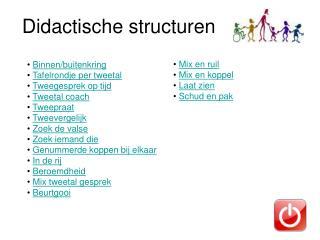 Didactische structuren