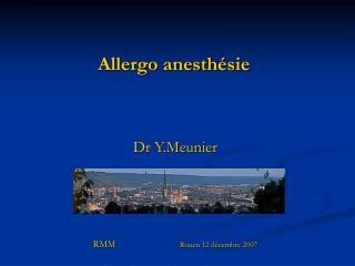 Allergo anesthésie
