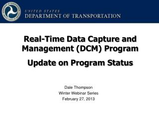 Dale Thompson Winter Webinar Series February 27, 2013