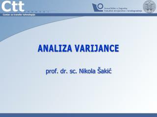Analiza varijance