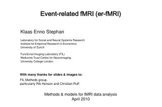 Event-related fMRI (er-fMRI)