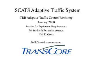 SCATS Adaptive Traffic System