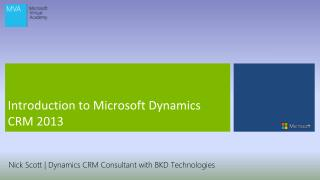 Introduction to Microsoft Dynamics CRM 2013