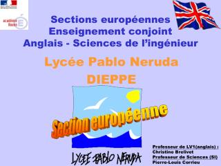 Sections européennes Enseignement conjoint Anglais - Sciences de l'ingénieur