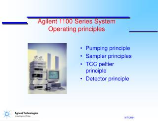 Agilent 1100 Series System  Operating principles