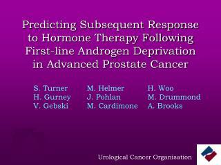 Urological Cancer Organisation