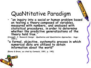 QuaNtitative Paradigm