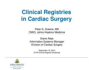 Clinical Registries in Cardiac Surgery