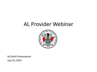 AL Provider Webinar