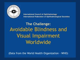 The Challenge: Avoidable Blindness and Visual Impairment Worldwide