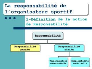 La  responsabilité  de l'organisateur sportif