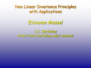 Non Linear Invariance Principles  with Applications