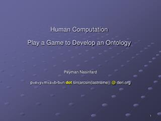 Human Computation Play a Game to Develop an Ontology
