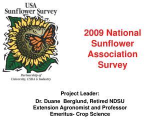 2009 National Sunflower Association Survey