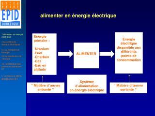 alimenter en énergie électrique