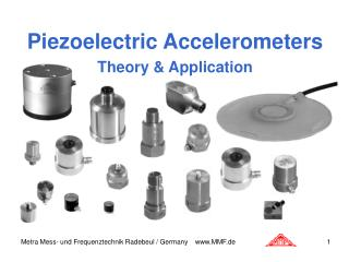Piezoelectric Accelerometers Theory  Application