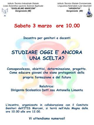 Istituto Tecnico Industriale Statale Liceo Scientifico opzione Scienze Applicate