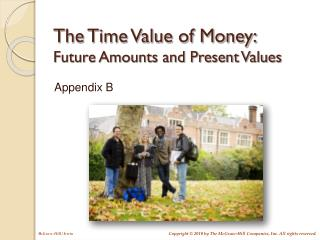 The Time Value of Money: Future Amounts and Present Values
