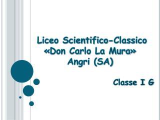 Liceo Scientifico-Classico  �Don Carlo La Mura� Angri (SA) Classe I G