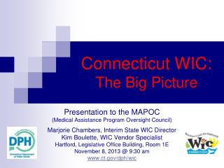 Connecticut WIC: The Big Picture