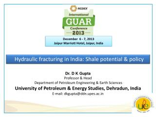 Hydraulic fracturing in India: Shale potential & policy