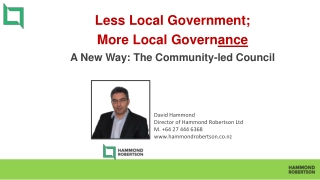 The Role of Local Elections in Improving Local Governance