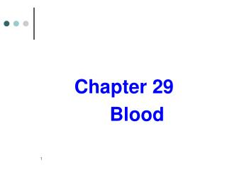 Chapter 29              Blood