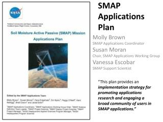 SMAP  Applications  Plan