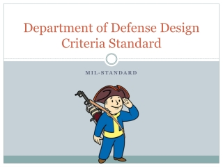 Department of Defense Design Criteria Standard
