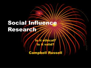 Social Influence Research
