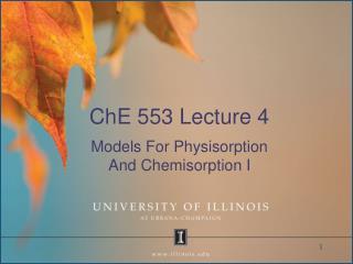 ChE 553 Lecture 4