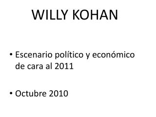 WILLY KOHAN