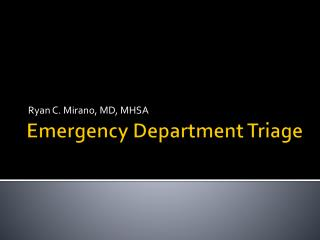 Emergency Department Triage