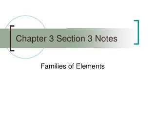 Chapter 3 Section 3 Notes