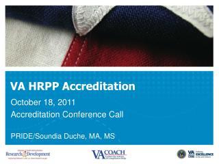 VA HRPP Accreditation