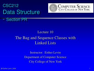 CSC212  Data Structure  -  Section PR