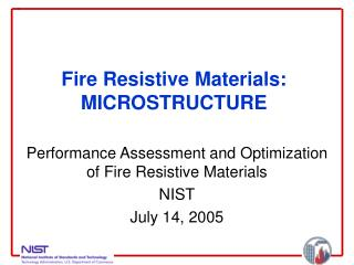 Fire Resistive Materials: MICROSTRUCTURE