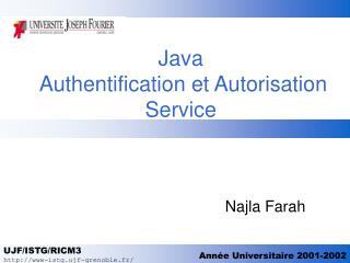 Java   Authentification et Autorisation Service