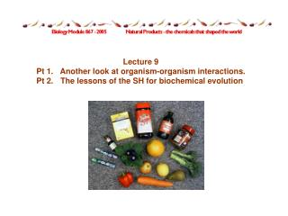 Lecture 9 Pt 1.	Another look at organism-organism interactions.