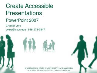 Create Accessible Presentations