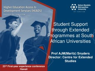 Student Support  through Extended Programmes at South African Universities