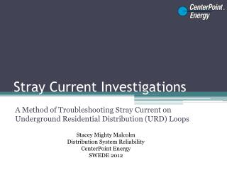 Stray Current Investigations