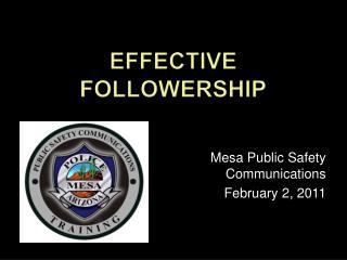Effective  followership