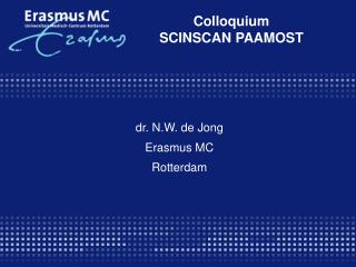 Colloquium SCINSCAN PAAMOST