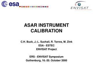ASAR INSTRUMENT CALIBRATION