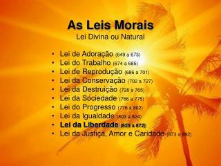 As Leis Morais Lei Divina ou Natural