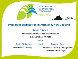 Immigrant Segregation in Auckland, New Zealand